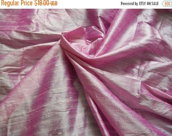 15% Off One yard soft petal pink 100 percent pure  dupioni silk