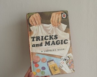 Tricks and Magic Notebook handmade from a vintage Ladybird Book