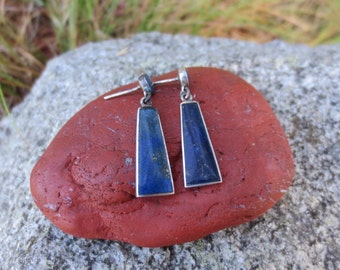 Vintage Sterling Silver Lapis Lazuli Earrings