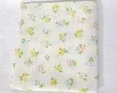 Pillowcase, One (1) Vintage sheet pillowcase - Tiny blue, pink, and yellow flowers.