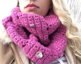 CHARMing Pink Love Scarf