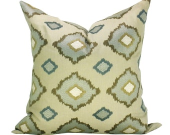 Sikar Embroidery pillow cover in Flax