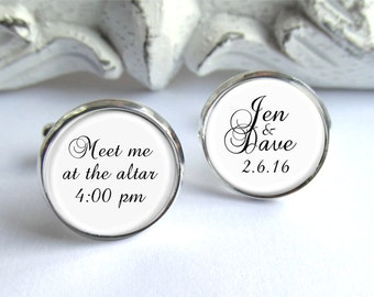 Wedding Cufflinks, Personalized Cufflinks, Gift For Groom