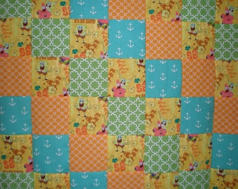 SALE Sponge Bob Square Pants Patchwork Quilt