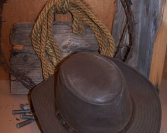 Western Drover Hat Oilskin Australian Outback Aussie Cowboy