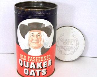 Quaker Oats Tin Limited Edition ©1982 Metal Kitchen Storage