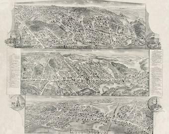 1896 Map of Saugus, Massachusetts