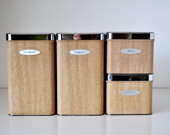 Mid Century Modern Kitchen Canisters Masterware