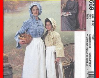 Pattern Costume Prairie McCall's Uncut Adult Ladies 3669 Sizes 8-22