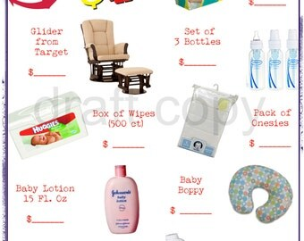 Baby Shower Games - Custom Package 3 GAMES