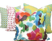 Impressionist Floral Decorative Pillow Lumbar pillow, accent pillow, throw pillow, pillow case, watercolor floral