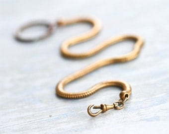 Old Pocket Watch Chain - Brass and Copper