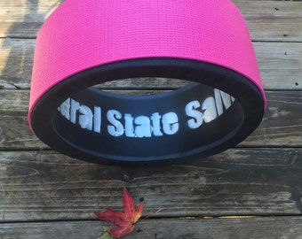"""CLEARANCE- Hand made 14""""diameter, 6""""width heavy duty yoga wheel made from repurposed pipe"""