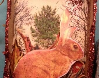 Bunny by the Hazeltree Matchbox Ornament