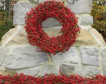 Holiday Garland - Christmas Garland - Red and Green Garland