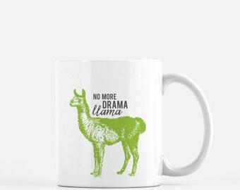 Llama mug | llama art mug | no more llama drama mug | funny coffee mug | coffee cup | funny gifts | coffee mug funny | llama clip art mug