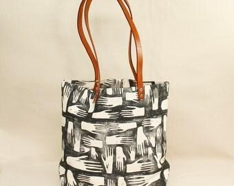 Hands Block Print Tote Bag