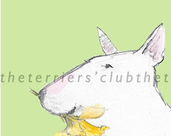 Bull Terrier Card - Easter Card/Mothers Day