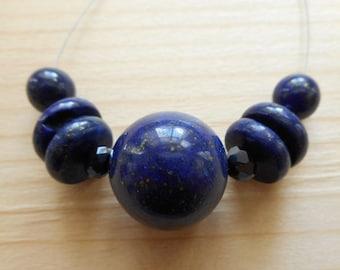 11pcs Lapis focal set,18mm big Lapis bead -natural Lapis Lazuli gemstone pendant focal beads,