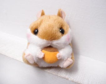 Cute Hamster eat nut Soft toy