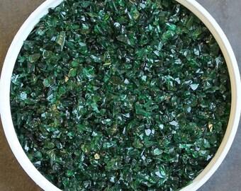 Iris Green Glass Frit COE92-96 Reichenbach 25 gram (136)