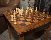 Unique, Unusual, & Beautiful Handcrafted Hardwood Chess Table Checkers Table Handmade Custom Chess Table Christmas Wedding Gift Anniversary