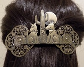 Large Barrette for Thick Hair/ I love you gift