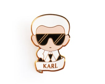 Karl Largerfeld Brooch Pin