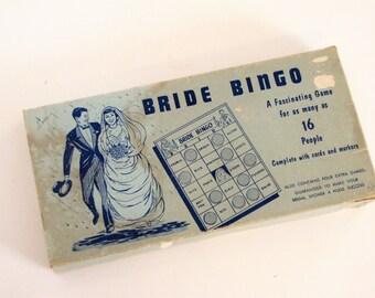 Vintage 1960's Bridal Bingo Shower Game