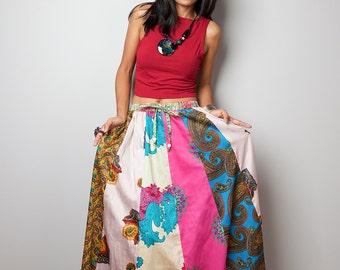 Boho Skirt / Patchwork Skirt / Maxi skirt : Boho Patchwork Collection No.2