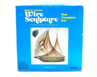 Sailboat Hanging Wire Sculpture Kit by Smith House Unused