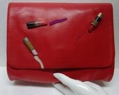 ANDREA PFISTER Vintage Lipstick Leather Clutch