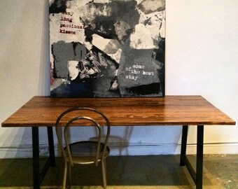 Beautiful Reclaimed Wood | Industrial Table | made in dtla