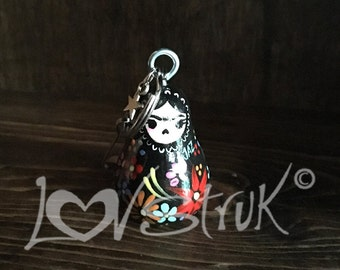 Mini nesting Doll keychain or necklace opt.