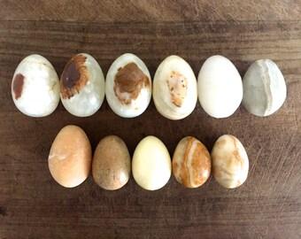 Vintage Egg Alabaster