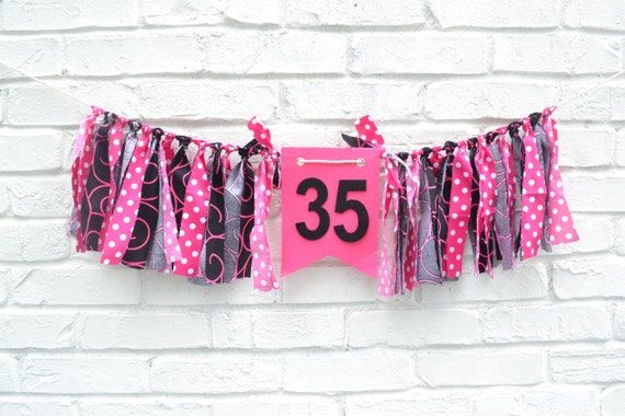 Adult birthday banner 35th birthday 35 birthday for 35th birthday decoration ideas
