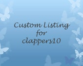 Custom order for clappers10 - ship with other order