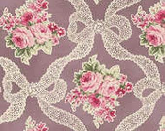 RURU Bouquet - Rose Ribbon Purple from Quilt Gate