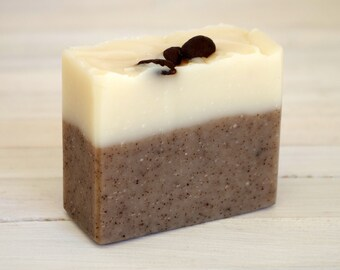 Natural soap - Handmade soap - Coffee and Black Pepper Soap - Cold Process soap Exfoliating soap