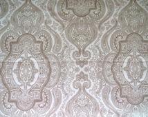 WHITESALE - Ralph Lauren Twin Single Flat Sheet - Brentwood Paisley Camel Beige - Unused - Vintage Bedding Sheets Linens