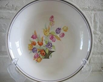 Vintage Salem Berry Bowls Set of Five-Tulips In Basket-Century-SLM402