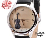 Watch for Women - Violin. Women Watches. Classic Style Womens Watch. Music Gift. Music Jewerly. Women Jewelry. Gifts for Her - FREE SHIPPING