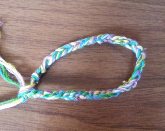 5 strand crochet friendship bracelet 6.5""