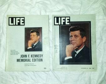 John F Kennedy Life Magazine 1963 Memorial