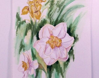Jonquils,  a watercolor painting