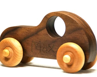 Wooden Toy Car - Personalized Toy Car, Race car push toy for kids, children, boys, and girls