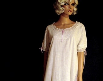 Antique Dress Victorian Slip With Lace And Tucks Circa 1800's