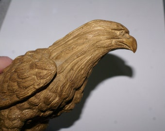 VINTAGE EAGLE STATUE,  Faux Woodcarving,