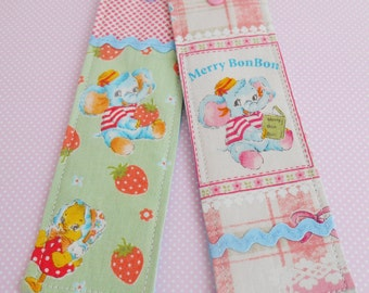 SALE Set Of Two Cute Retro Inspired Bookmarks