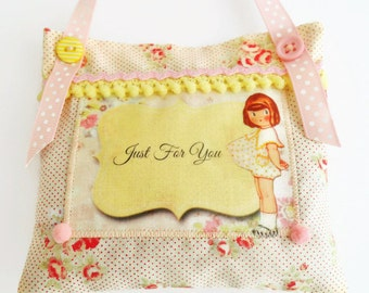 SALE  Retro Inspired Mother's Day Lavender Sachet/Door Hanger